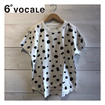 6°VOCALE(セスタヴォカーレ) スポテッドTシャツ19 レディース/Tシャツ WHITE 6°VOCALEより入荷