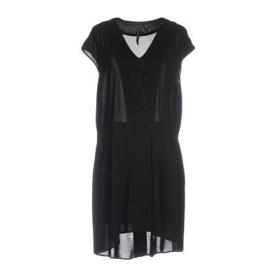 マニラ グレース MANILA GRACE ミニワンピース&ドレス ブラック 44 レーヨン 98% / ポリウレタン 2% ミニワンピース&ドレス