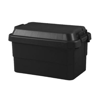 RISU トランクカーゴ おしゃれ フタ付き 収納ボックス 50L ブラック TC-50BK プラスチック ケース 野外 日用品 生活雑貨 アメリカン雑貨 アメリカ雑貨