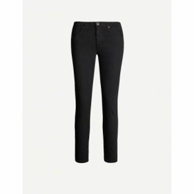 エージー AG レディース ジーンズ・デニム ボトムス・パンツ Prima cropped cigarette mid-rise jeans Super black