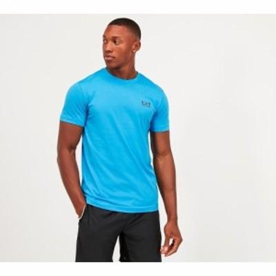 イーエーセブン EA7 メンズ Tシャツ トップス train core id t-shirt Blue Aster