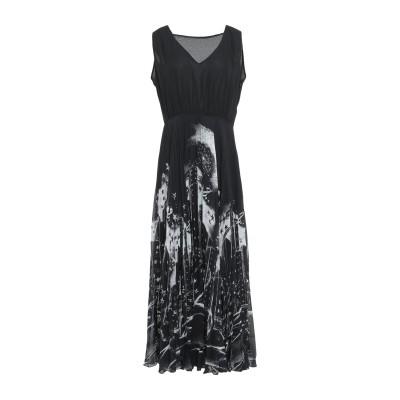 BOUTIQUE MOSCHINO ロングワンピース&ドレス ブラック 38 ポリエステル 100% ロングワンピース&ドレス