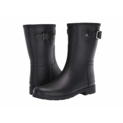 ハンター レディース ブーツ&レインブーツ シューズ Original Refined Short Rain Boots Black