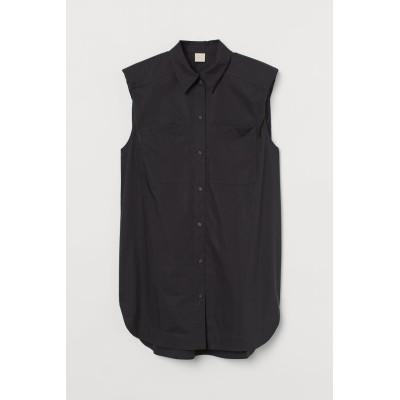 H&M - オーバーサイズブラウス - ブラック
