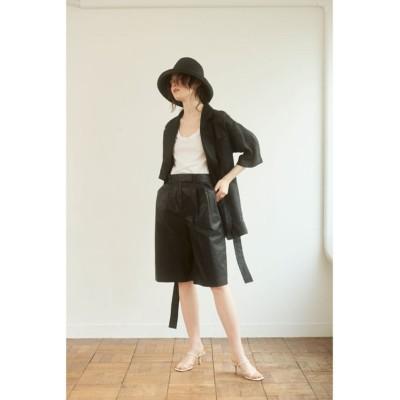 【エトレトウキョウ】 ハーフスリーブライトジャケット レディース ブラック S ETRÉ TOKYO