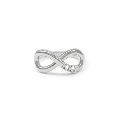 Kappa Kappa ガンマ スターリング シルバー Infinity リング (08)(海外取寄せ品)