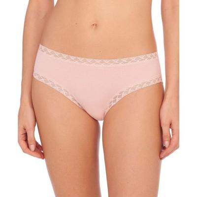 ナトリ Natori レディース ショーツのみ インナー・下着 Bliss Lace-Trim Cotton Brief Underwear 156058 Delicate Peach
