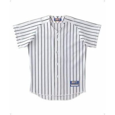 【メール便対応】ゼット ユニフォーム ストライプメッシュシャツ ジュニア 野球 BU521J-1119