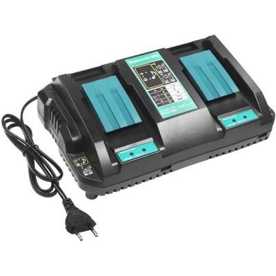 マキタ DC18RD 充電器 2口充電器 マキタ 14.4V/18V バッテリー 用 互換品 USB端子搭載 充電用USBポート付 スマホ充電可能 BL1430 BL1440 BL1450 BL1460