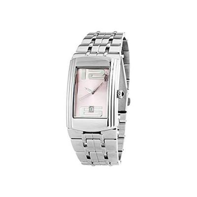 【新品】Watch CHRONOTECH Steel Pink Silver Woman