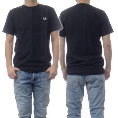 FRED PERRY フレッドペリー メンズクルーネックTシャツ TONAL STRIPE T-SHIRT / M1593 ブラック /2021春夏新作