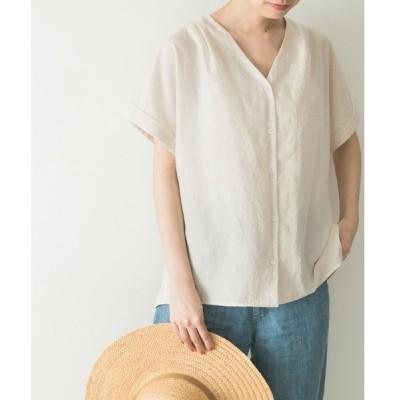 シャツ ブラウス エアリーブロード半袖シャツ