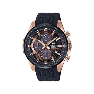 [カシオ] 腕時計 エディフィス EQS-900PB-1AV メンズ 腕時計 ソーラークロノグラフ 2019年モデル ピンクゴールドxブラック ウレタ