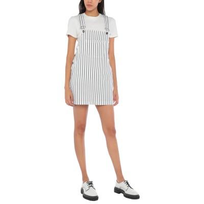GAëLLE Paris ジャンパースカート ホワイト 27 コットン 97% / ポリウレタン 3% ジャンパースカート