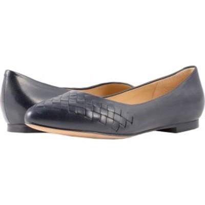 トロッターズ Trotters レディース スリッポン・フラット シューズ・靴 Estee Woven Navy Woven Leather