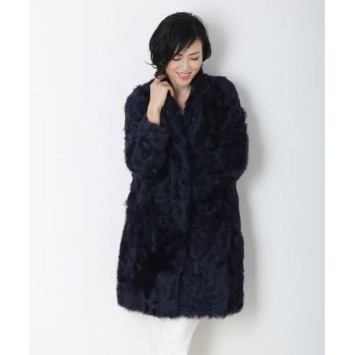 三京商会 / テーラーカラーカルガンラムファーコート WOMEN ジャケット/アウター > その他アウター