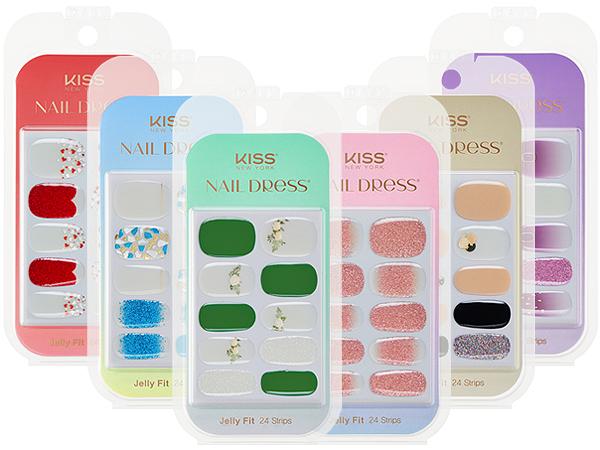 Kiss~Jelly Fit果凍光療美甲貼(24片入) 款式可選【D342576】
