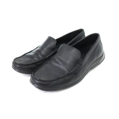 【中古】コールハーン COLE HAAN シューズ レザー ローファー ドライビングシューズ 黒 ブラック 6 靴 ■VP  【ベクトル 古着】