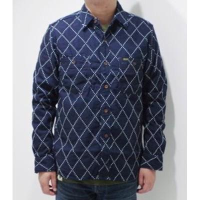 ステュディオダルチザン 長袖 ドビー織り ワークシャツ STUDIO DARTISAN INDIGO DOBBY SHIRT 5649