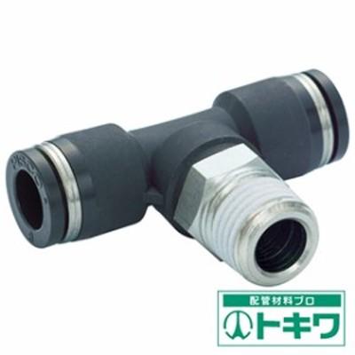ピスコ チューブフィッティング ティー 適合外径4×4mm 接続口径R1/8  PB4-01 ( 2909723 )