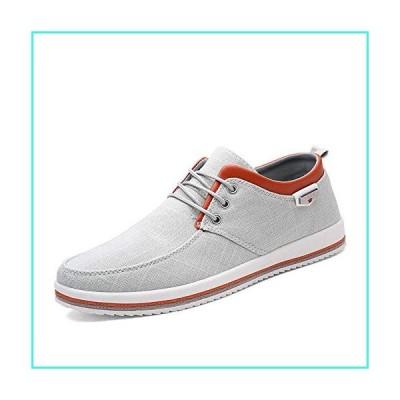 【新品】Mens Canvas Fashion Sneaker Causal Lace-Up Skateboarding Soft Non-Slip Comfortable Street Shoes(並行輸入品)