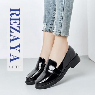 パンプス レディース革靴 女性 フラット 春夏秋冬 オールシーズン  疲れない 履きやすい 革靴 シューズ 歩きやすい  婦人靴
