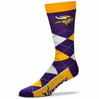 For Bare Feet フォー ベア フィート スポーツ用品  For Bare Feet Minnesota Vikings Argyle Crew Socks