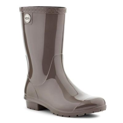 アグ レディース ブーツ&レインブーツ シューズ UGG Sienna Rubber Shearling Lined Glossed Waterproof Rain Boots Charcoal