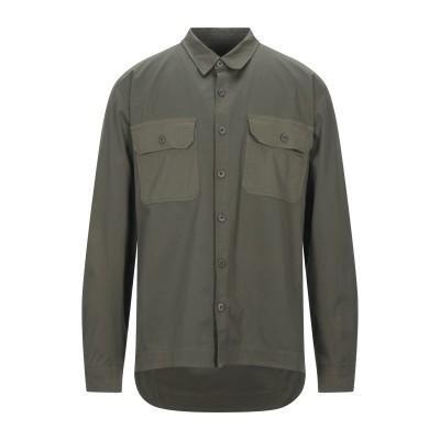 CROSSLEY シャツ ミリタリーグリーン S コットン 97% / ポリウレタン 3% シャツ