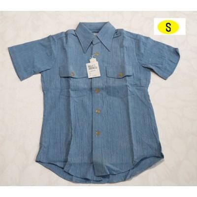 昭和レトロ 半袖ブラウス Sサイズ 小さいサイズ 春夏 メンズファッション 日本製