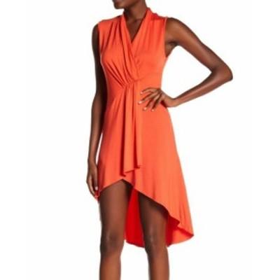 ファッション ドレス Go Couture NEW Orange Womens Size Small S Sleeveless High/Low Dress