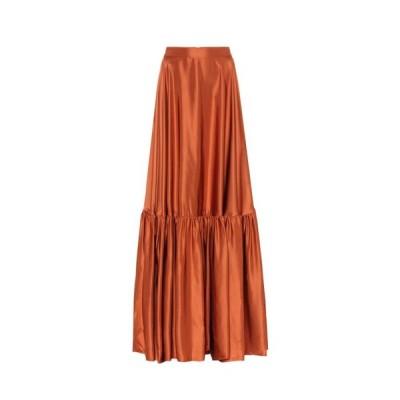 プラン C Plan C レディース ロング・マキシ丈スカート スカート Taffeta maxi skirt Cotto