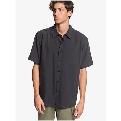 クイックシルバー シャツ メンズ トップス Quiksilver Men's Cane Island Shirt Black Cane Island