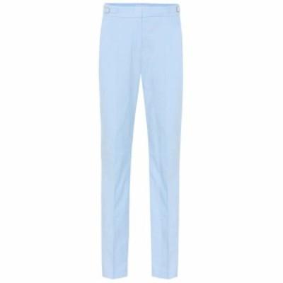 ガブリエラ ハースト Gabriela Hearst レディース スキニー・スリム ボトムス・パンツ Isabel mid-rise slim corduroy pants Light Blue