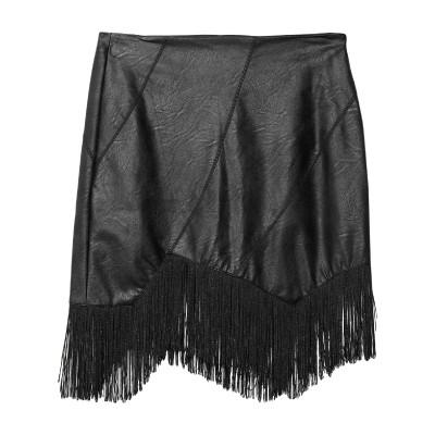 HANNY DEEP ひざ丈スカート ブラック S ポリウレタン 100% ひざ丈スカート