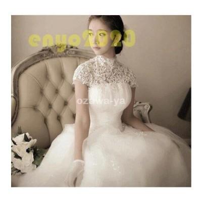 花嫁の魅力 編み上げタイプ ウェディングドレス☆ウエディングドレス刺繍 ☆/結婚式/二次会/パーティー/発表会/お嫁さん/妊婦さんもOK
