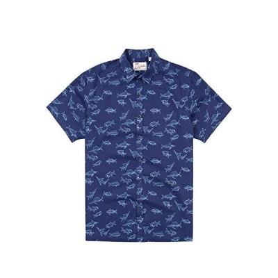 Kahala スイムクラブ ハワイアンシャツ US サイズ: Medium カラー: ブルー
