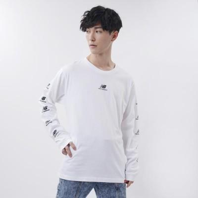 【New Balance】 ニューバランス CITYロングスリーブTシャツ ショートスリーブ Tシャツ AMT03522WT WT L ホワイト