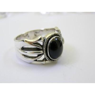 シルバーリング オニキス 指輪 ユニセックス 21号 天然石 パワーストーン リング 天然石 パワーストーン プチギフト 転勤 退職 お礼 母の