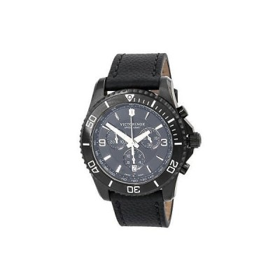 腕時計 ヴィクトリノックス Victorinox Swiss Army 241786 Men's Maverick Chronograph Black Strap Watch