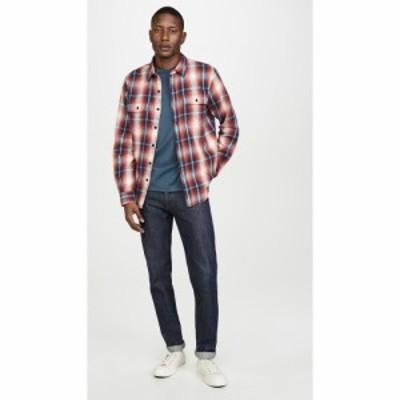 フレーム FRAME メンズ シャツ トップス Plaid Double Pocket Button Down Shirt Spring Red Multi