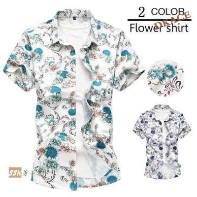アロハシャツ半袖メンズ花柄シャツカジュアルシャツメンズシャツ夏花柄爽やかレーヨンお兄系トップス
