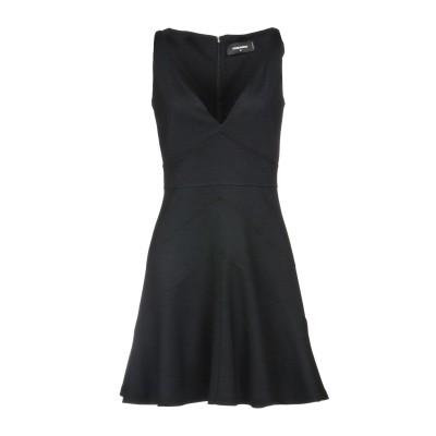 ディースクエアード DSQUARED2 ミニワンピース&ドレス ブラック S 50% バージンウール 50% アクリル ミニワンピース&ドレス