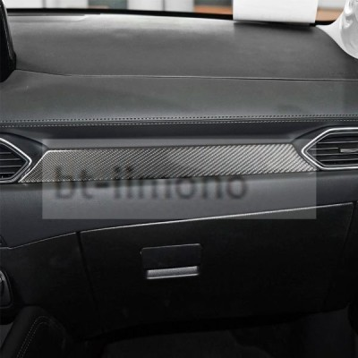 マツダ CX-5 KF系 カーボン製 助手席 フロント パネルカバー1個 左ハンドル車右ハンドル車通用 送料無料