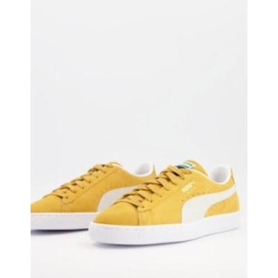 プーマ メンズ スニーカー シューズ Puma classic suede sneakers in gold Yellow