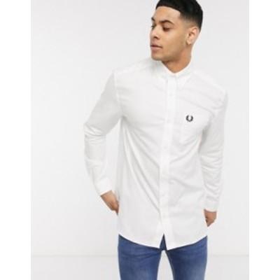 フレッドペリー メンズ シャツ トップス Fred Perry oxford shirt in white White