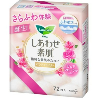 花王 ロリエ しあわせ素肌 パンティライナー ピュアフローラルの香り 72個入