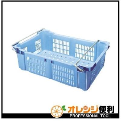 積水テクノ成型 積水 BK型コンテナ(バスケット型) BK−40H(ハンドル付) 青 BK-40H B 【498-3343】