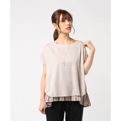 tシャツ Tシャツ ネックレス付フェイクレイヤードトップス