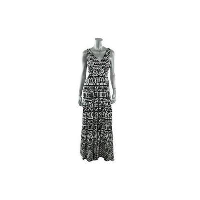 インク ドレス ワンピース INC 0057 レディース B/W プリントed ノースリーブ Empire Maxi ドレス XS BHFO